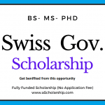 Switzerland Government Scholarship 2021-2022