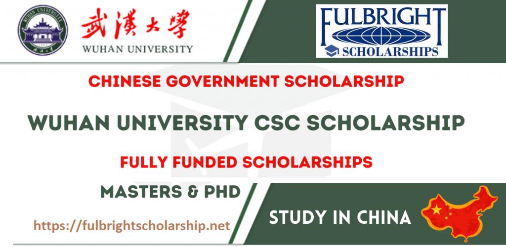 Wuhan University Scholarship (CSC 2021)