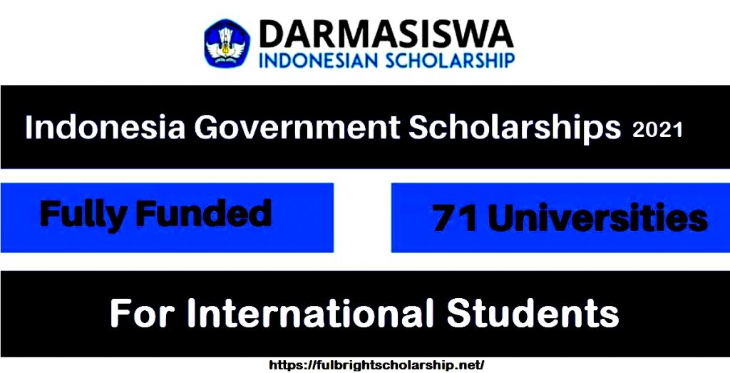 Indonesian Government Scholarship 2021-2022 Fully Funded