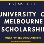University of Melbourne Scholarships 2021-2022: Worth US $115000