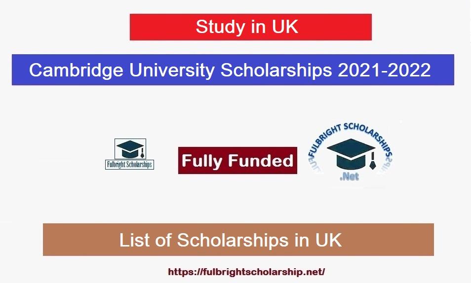 Cambridge University Scholarships for International Students