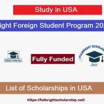 Fulbright Foreign Student Program Scholarships 2021