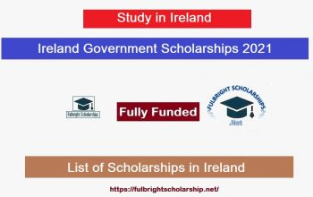 Ireland Government Funded Scholarships 2021-2022