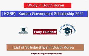 (KGSP) Korean Government Scholarship Program