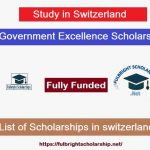 Swiss Government Excellence Scholarships 2021-2022