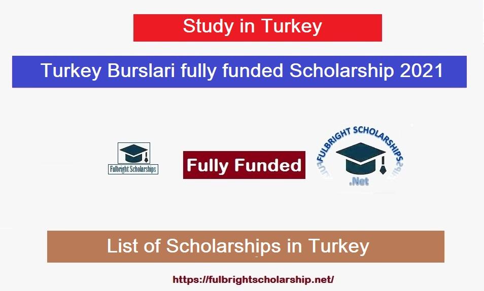 Turkey Burslari fully funded Scholarship 2021-2022