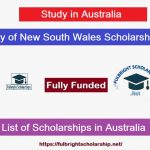 University of New South Wales Scholarships 2021-2022