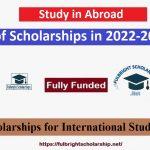 Scholarships in 2022-2023