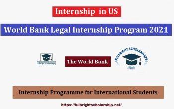 World Bank Legal Internship Program 2021